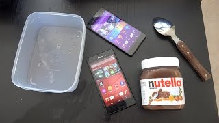 Sony Xperia M4 Aqua - Nutella Freeze Test! (4K)