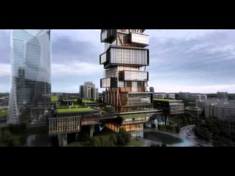 amphibianArc: Zoomlion Headquarters - Twin Towers Scheme  
