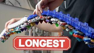 LONGEST BEYBLADE LAUNCHER! - Epic Beyblade Burst Customization