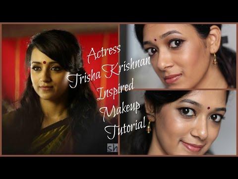 South Indian Actress Trisha Krishnan Inspired Makeup Tutorial | Yennai Arindhaal | Beauty5 | By Dhiv