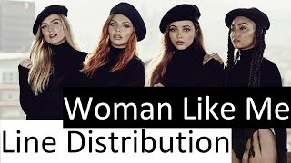 Little Mix ~ Woman Like Me ~ Line Distribution (with Background Vocals counted)