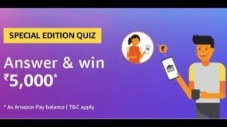 Amazon special edition Quiz Answers | Win Rs.5000| 22 may  2019