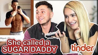 Hijacking A Hot Girl's TINDER (Ft. Chachi Gonzales) CALLS SUGAR DADDY