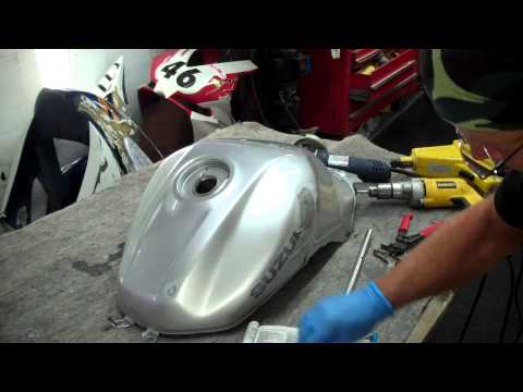 Suzuki fuel tank dent repair in real time
