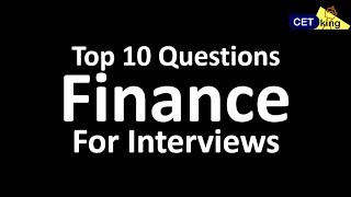 GDPI - Top 10 FINANCE questions for interviews
