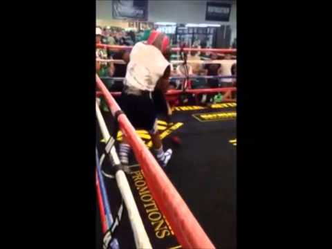 FLOYD MAYWEATHER SHORT SPARRING CLIP FROM FIRST DAY OF CAMP