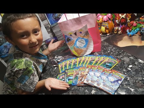 Ethan Suprised Me With a Happy Fathers Day Present!! 20 BOOSTER PACKS and a card! CRAZY GOOD PULLS!!