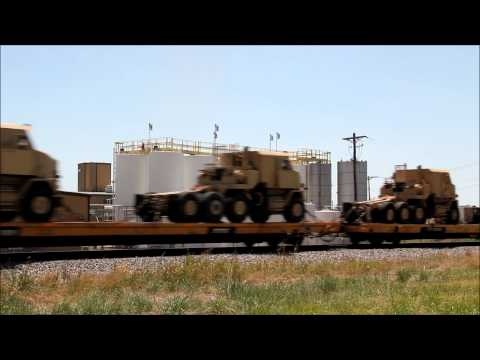 Union Pacific Freight Military Transport