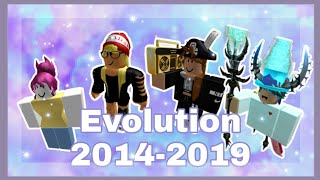 My ROBLOX Avatar Evolution (2014-2019)