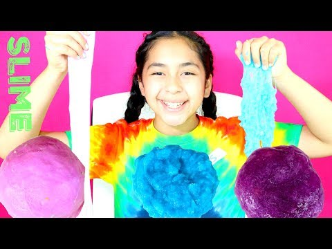 5 DIY SLIMES  CRUNCHY AND COLORFUL | B2cutecupcakes