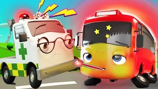My Little Red Bus Gets Sick | Go Buster | Baby Songs +More Nursery Rhymes | Little Baby Bum