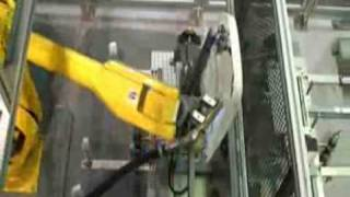Flame Treater - Robotic flame treating cell with Fanuc Robot