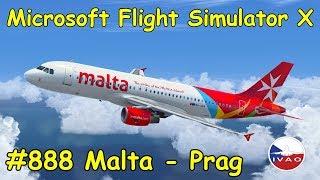 Let's Play Microsoft Flight Simulator X Teil 888 Malta - Prag [4/4] IVAO Air Malta 538   Airbus A320