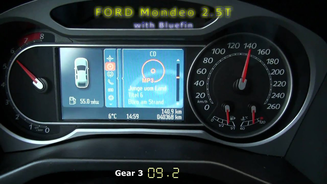 200 Kph To Mph >> FORD Mondeo 2.5T 50-200 kph with Superchips bluefin - YouTube