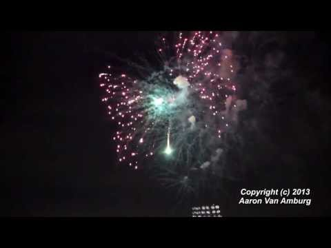 (HD) Tampa Yankees Postgame Firework Show Tampa, FL 5-17-2013