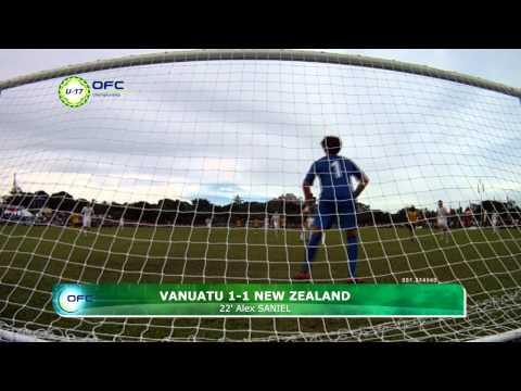 2013 OFC U 17 Championship Day 3 Vanuatu vs New Zealand Highlights