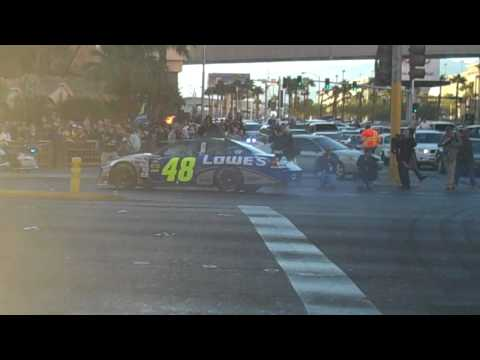 Jimmie Johnson Victory Lap Burnout in Las Vegas Video