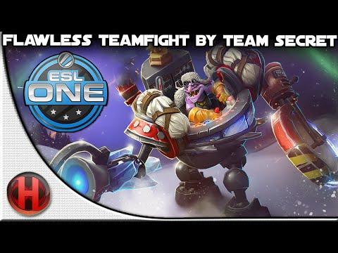 Dota 2  Flawless Teamfight by Team Secret vs NaViUS  ESL One New York