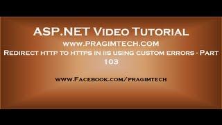 Redirect http to https in iis using custom errors   Part 103