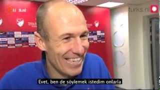 Türkiye hollanda maçı - Robben İstiklal Marşı na hayran kaldı