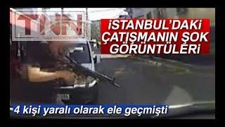 Sancaktepe'de polisle gasp çetesi arasında silahlı çatışma