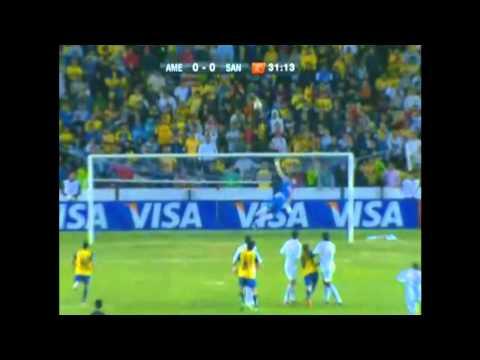 RAFAEL(Santos FC)  vs américa do méxico (03/05) Oitavas de finais Libertadores 2011