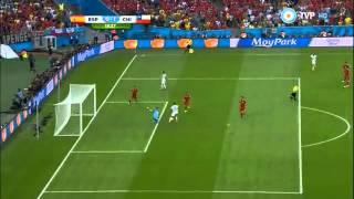 Eduardo Vargas Gol, España vs Chile Mundial Brasil 2014