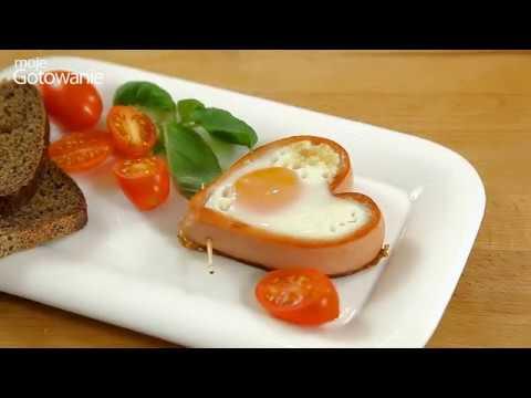 Jak Zrobić śniadanie Z Parówką I Jajkiem W Kształcie Serca