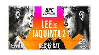 Al Iaquinta vs Kevin Lee 2 full fight card UFC on FOX 31 predictions and stream time