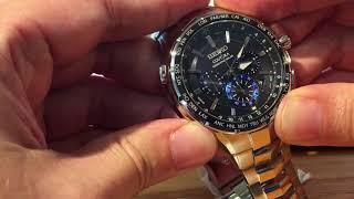 How to manually set the Seiko Radio Sync Watch.