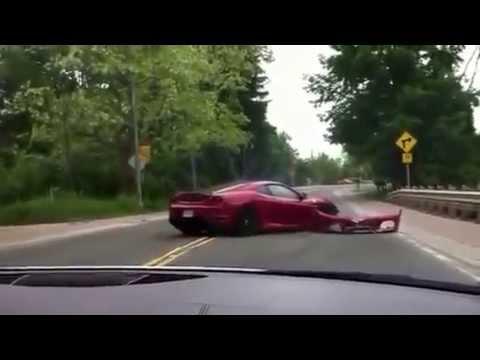 Man Crashes Rented Ferrari During Exotic Car Tour In Canada!