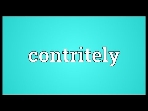 Header of contritely