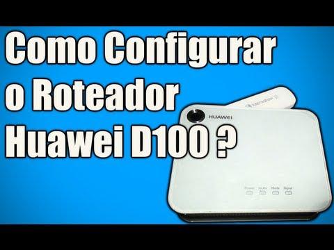 Como Configurar o Roteador Huawei D100 ? (3G e WIFI)