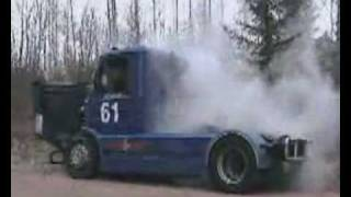 Scania V8 first start after winter