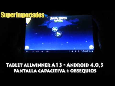 Tablet Allwinner A13 Android 4.0.3 pantalla 7 pulgadas