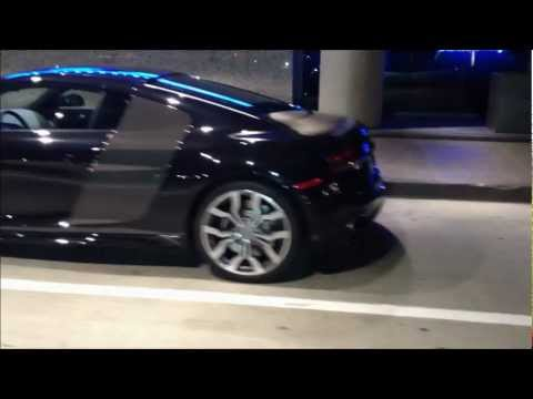 Black Audi R8 V10 5.2 L Fsi - Night Video video