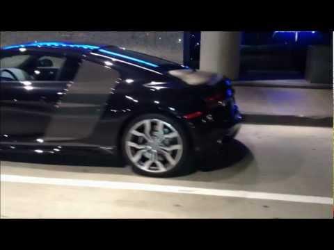 Black Audi R8 V10 5.2 L Fsi - Night Video video