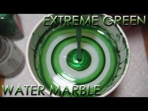Extreme Green Water Marble Nail Art Tutorial - Addicted to Color Series