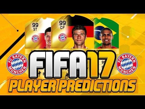 FIFA 17 Bayern Munich Player Ratings Predictions!! Ft. Müller, Lewandowski & Douglas Costa!!