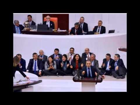 Turkish parliament passes 10 articles of security bill amid protests from opposition