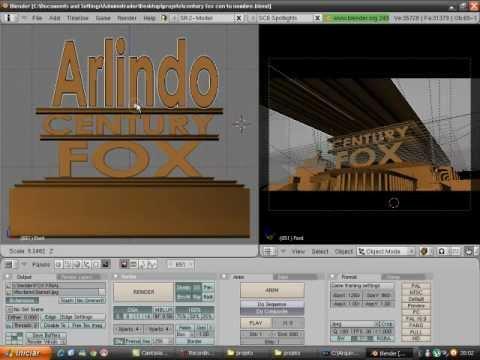 Como Editar A Famosa Vinheta  ''20th Century Fox'' Parte 1 (por Arlindo) video