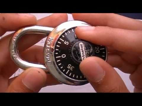 How to find the combination to a master lock (HD)