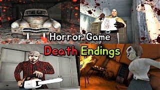Horror Game - Death Endings || PC Granny vs Dread Teacher vs Mr. Meat vs The Dark Internet