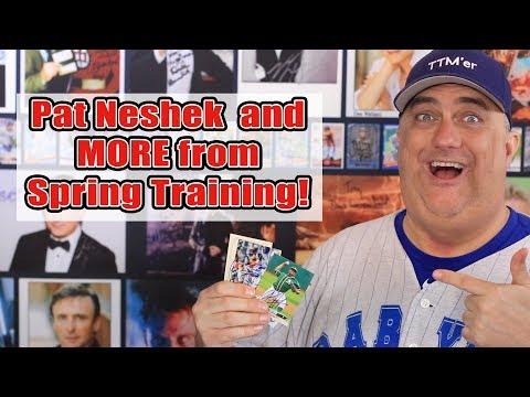 Major League Collector Pat Neshek and more Spring Training TTM Autograph returns