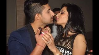 Siddharth  (Ravi Dubey) with his real life wife!! Jamai Raja