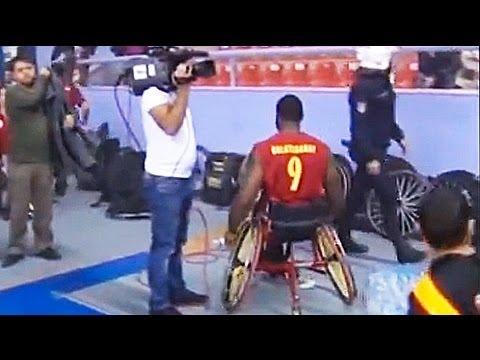 Wheelchair basketball hooligans tear gassed in Turkey