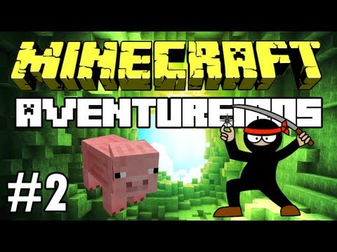 Minecraft: Feromonas e os Aventureiros Multiplayer #2 O Ninja e o Assassino de Porcos