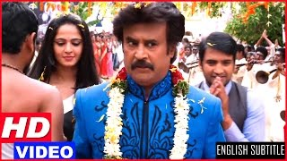 Lingaa Tamil Movie Scenes HD   Rajinikanth gets a grand welcome in Solaiyur   Anushka   Santhanam