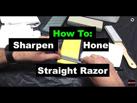 How To Sharpen/Hone A Straight Razor - Geofatboy