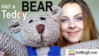 Knit a Classic Teddy Bear - Baby & Toddler Knits - BOOK PATTERN | knittingILove